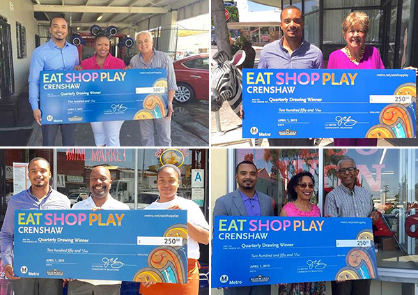Eat, Shop, Play Crenshaw First Quarterly Drawing-April 2015